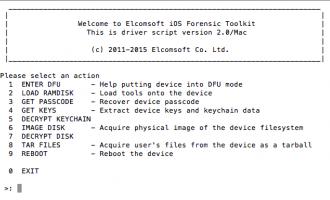 Elcomsoft iOS Forensic Toolkit 介绍及使用教程